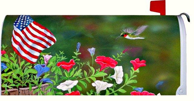 patriotic humming bird american flag mailbox cover amazon
