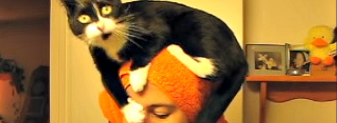 Whenever His Cat-Mom Exits The Shower, This Cat Does Something Totally Weird.